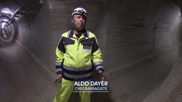 Visite guidée du barrage de la Dixence, le plus haut d'Europe [RTS]