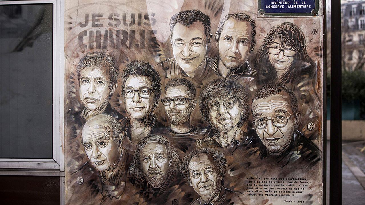 Le procès des attentats contre la rédaction de Charlie Hebdo est au cœur de la lettre des médias français. [Christophe Petit Tesson - EPA - Keystone]