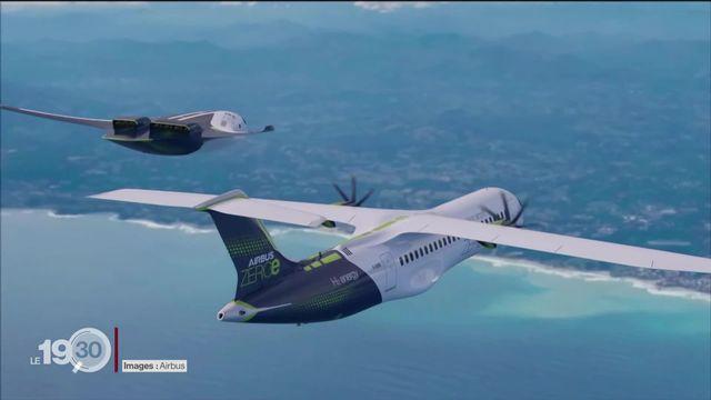 Voler sans émettre de CO2: le secteur aérien investit massivement dans l'électrique, l'hydrogène et les carburants synthétiques. [RTS]