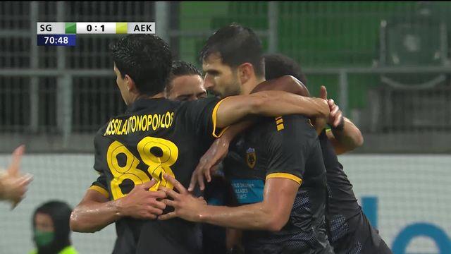 Qualifs, St-Gall - AEK Athènes (0-1): des regrets pour St-Gall [RTS]