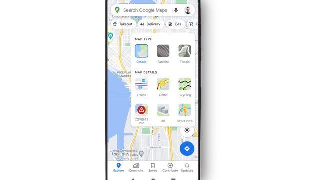 Google Maps se met à l'heure du Covid. [Google]