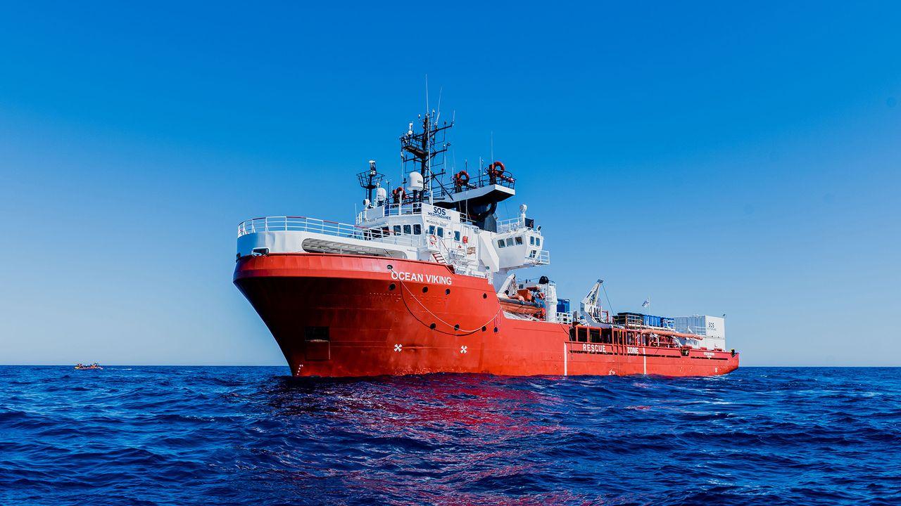 L'Ocean Viking, navire de secours de SOS Méditerranée. [Flavio Gasperini - SOS Méditerranée]