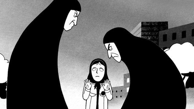Image issue du film Persépolis Marjane Satrapi, Vincent Paronnaud [2.4.7. Films / Archives du 7eme Art / Photo12 via AFP]
