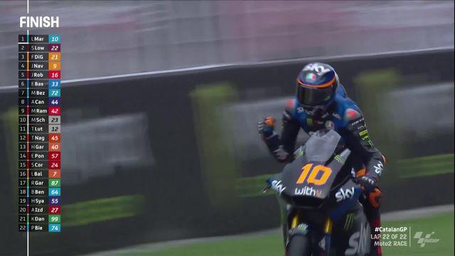 GP de Catalogne (#7), Moto2: l'Italien Luca Marini s'impose pour la 3e fois cette saison [RTS]
