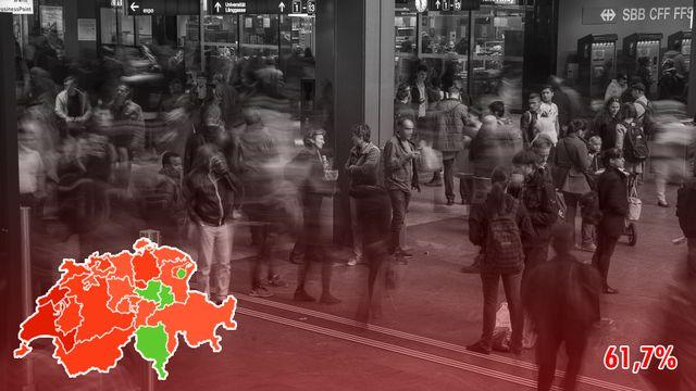 Libre circulation: le peuple refuse de tourner le dos à l'Union européenne. [Alessandro della Valle - Keystone]