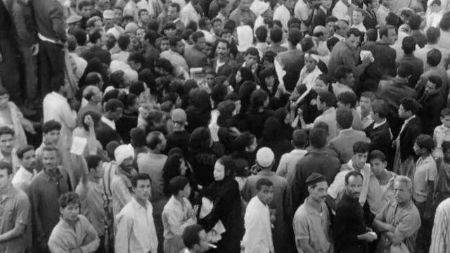 Marée humaine au Caire à la mort de Nasser, 1970. [RTS]