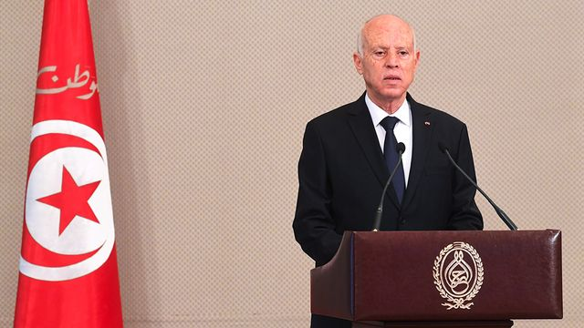 Le président tunisien Kais Saied. [EPA - Tunisian presidency press service handout - Keystone]
