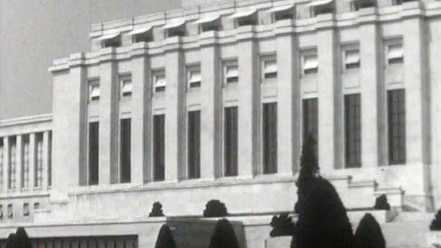 Le Palais des Nations fut le siège de la SDN. [RTS]