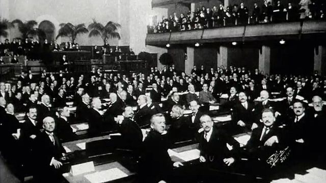 Tenue d'une Assemblée générale de la SDN.