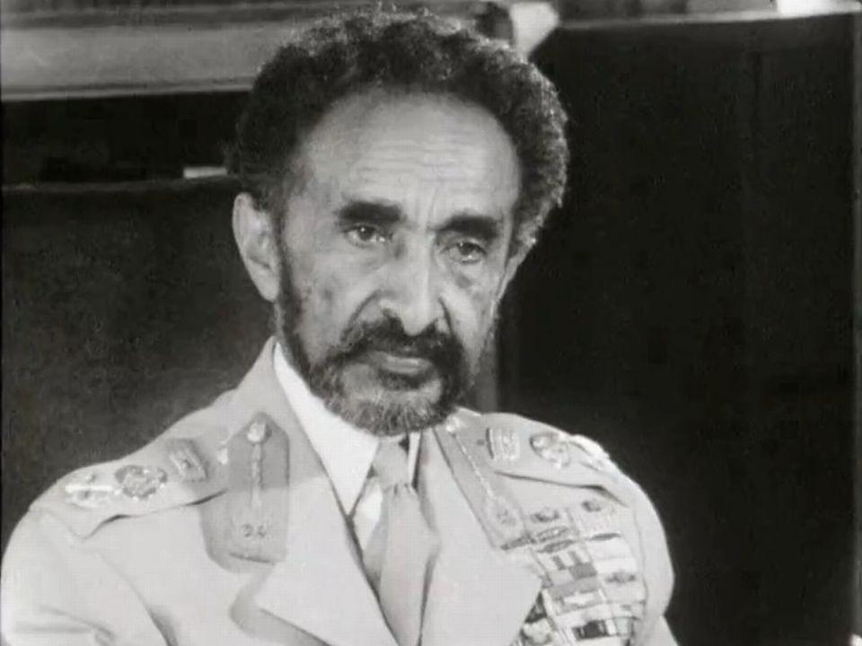 L'empereur d'Ethiopie Hailé Sélassié en 1964. [RTS]