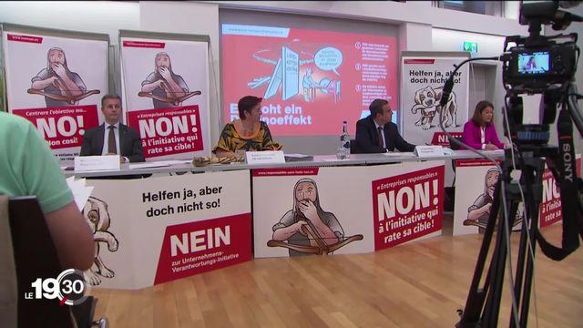 """La campagne sur l'initiative dite """"pour des multinationales responsables"""" est lancée. Votation le 29 novembre [RTS]"""