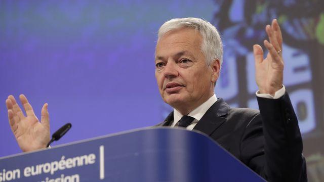 Le commissaire européen à la Justice Didier Reynders a présenté un rapport sur l'Etat de droit au sein des pays de l'UE. [OLIVIER HOSLET - EPA]