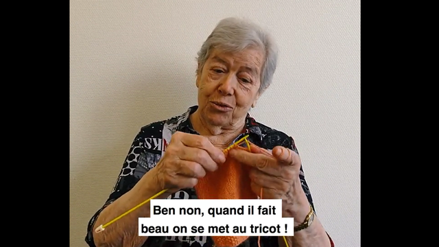 """Une image de la vidéo """"Restez chez vous"""" réalisée par des résident·e·s de la résidence Grande Fontaine de Bex. [DR]"""