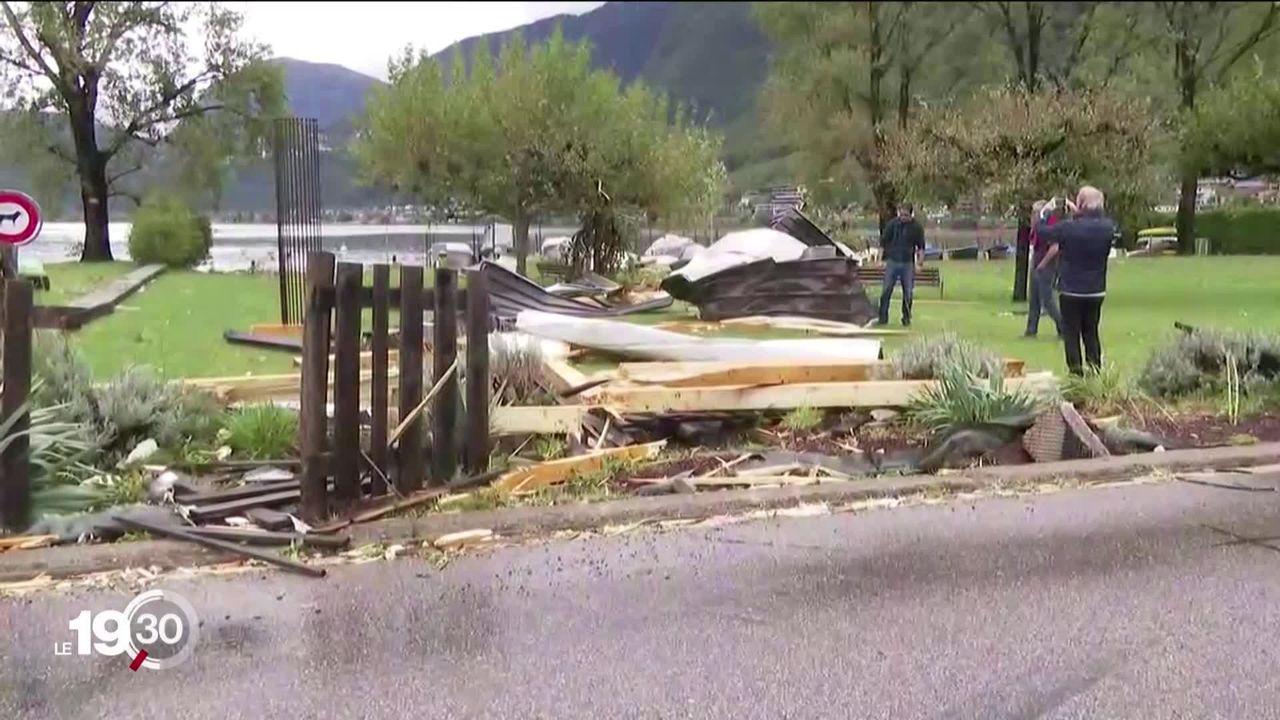 En Suisse, les cantons du Tessin et d'Uri sont particulièrement touchés par les fortes précipitations [RTS]