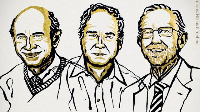 Les trois lauréats du Nobel de médecine 2020 sont le Britannique Michael Houghton et les Américains Harvey J. Alter et Charles M. Rice, pour la découverte de l'hépatite C. [Niklas Elmehed - Nobel Prize]
