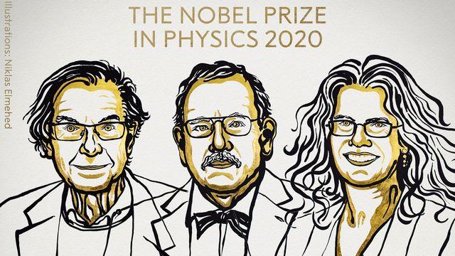 Le Nobel de physique est attribué à trois chercheurs, un Anglais, Roger Penrose, un Allemand Reinhard Genzel et une Américaine Andrea Ghez pour leur découvertes sur les trous noirs. [Niklas Elmehed - Nobel Prize]