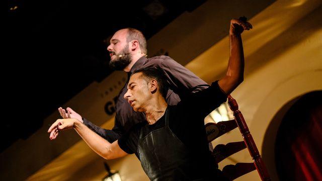 """Israel Galván et Niño de Elche dans le spectacle """"Mellizo Doble"""". [Kana Kondo - DR]"""