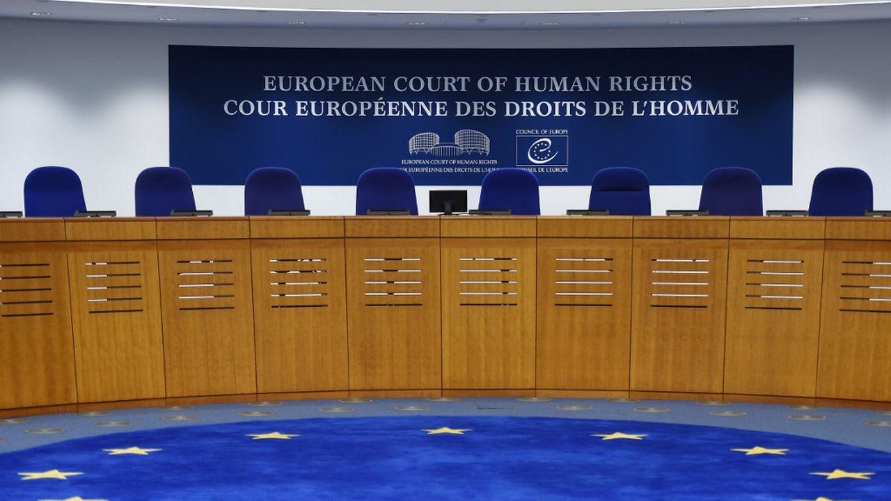 La salle de la Cour européenne des droits de l'homme à Strasbourg. [Frederick Florin - AFP]