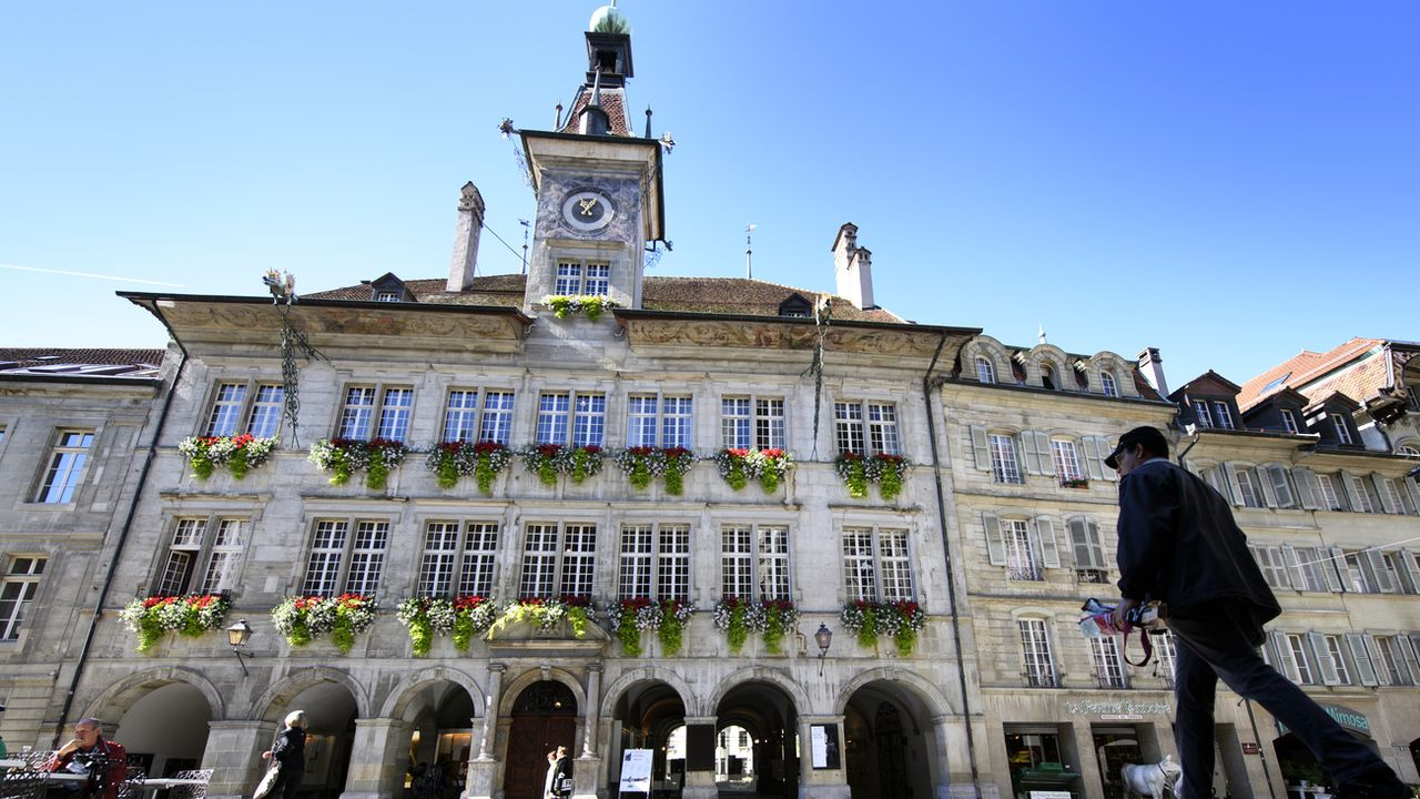 L'Hôtel-de-Ville de Lausanne, pris en photo en septembre 2017. [Laurent Gillieron - Keystone]