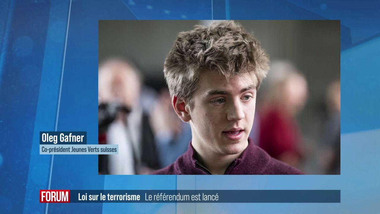 Lancement d'un référendum contre la réforme de la loi sur le terrorisme [RTS]