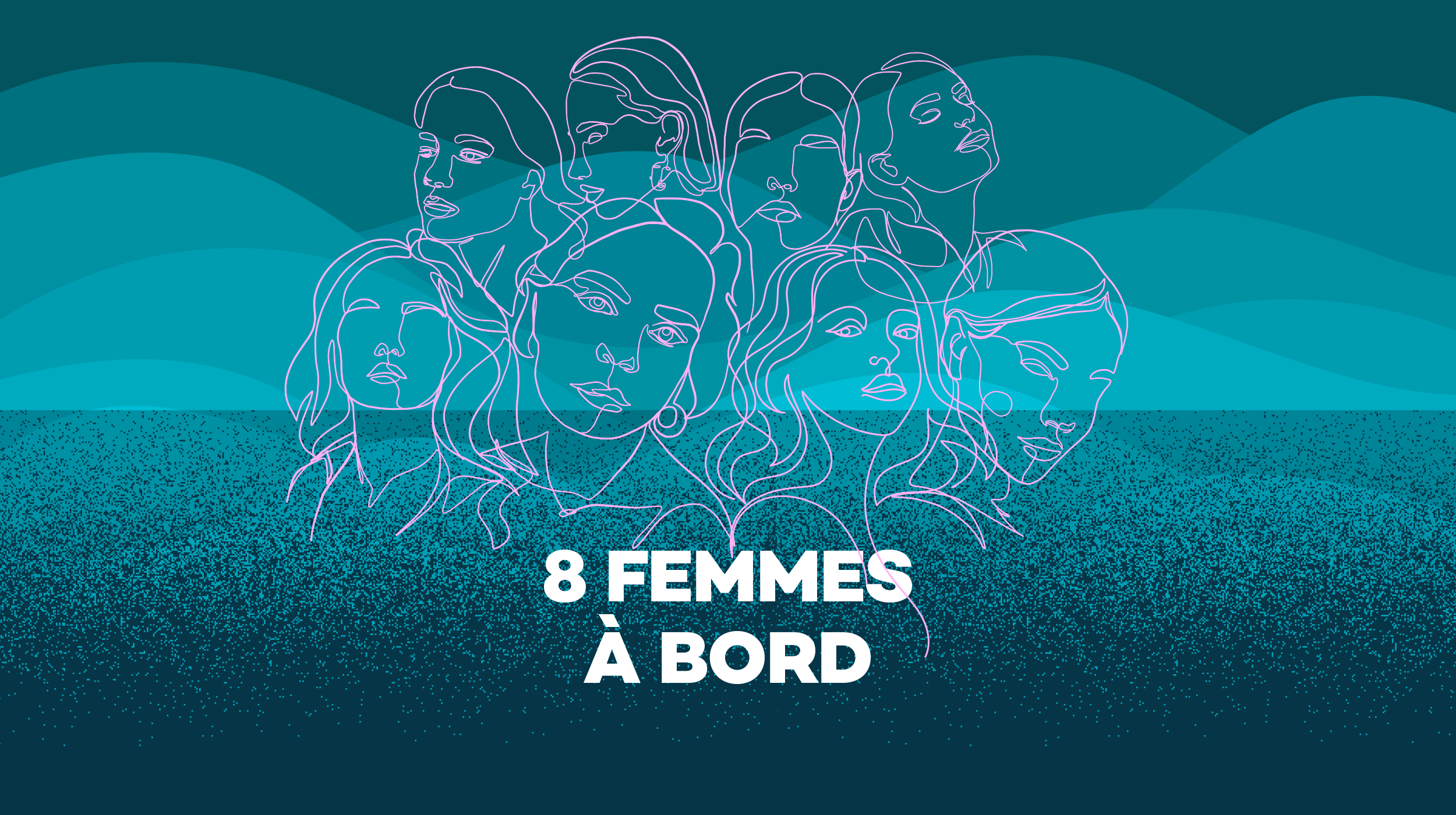 Logo 8 femmes à bord [RTS]