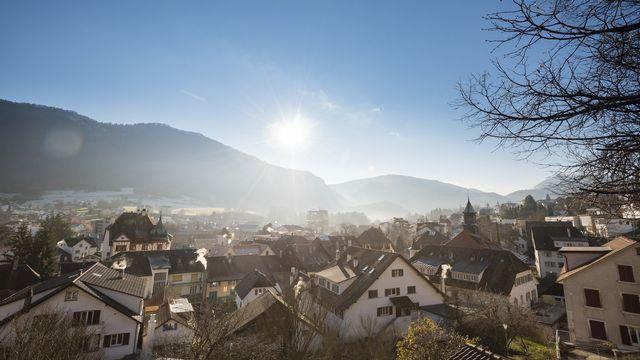 Moutier votera à nouveau sur son appartenance cantonale le 28 mars. [Stefan Meyer - Keystone]