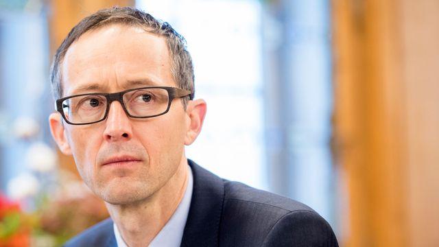 Le conseiller d'Etat fribourgeois Olivier Curty, chargé de l'Economie. [Anthony Anex - Keystone]