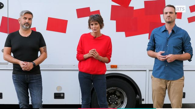 Coeur à Coeur 2020: Philippe Martin, Tania Chytil et Vincent Veillon. [Capture d'écran - RTS]