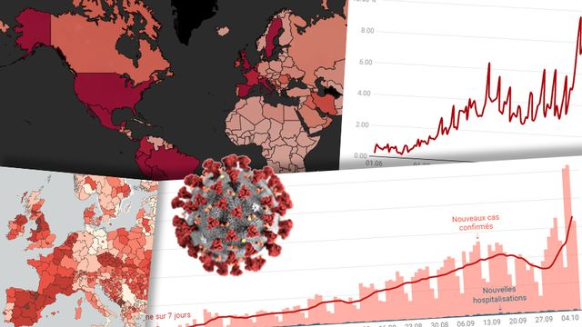 Le coronavirus en chiffres et en cartes. [Keystone]