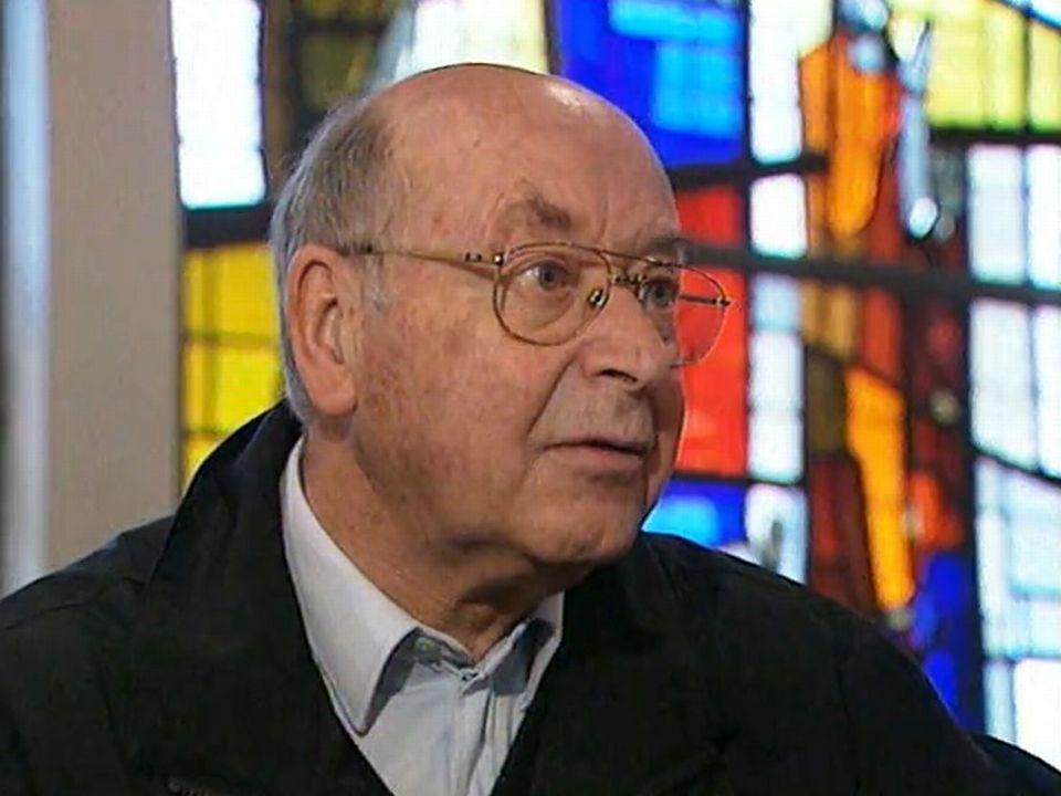 Le père Joseph Sarbach, curé de Gondo. [RTS]