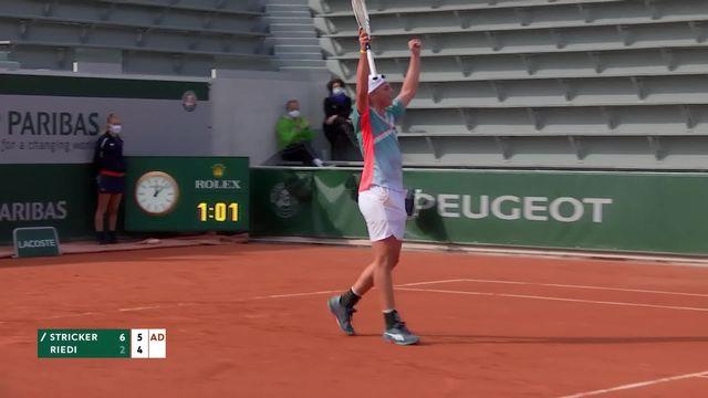 Finale Junior, DS. Stricker (SUI) - L. Riedi (SUI) 6-2, 6-4: Stricker remporte la finale 100% suisse [RTS]