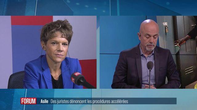 Emmanuelle Jacquet, porte-parole du Secrétariat d'Etat aux migrations. [RTS]
