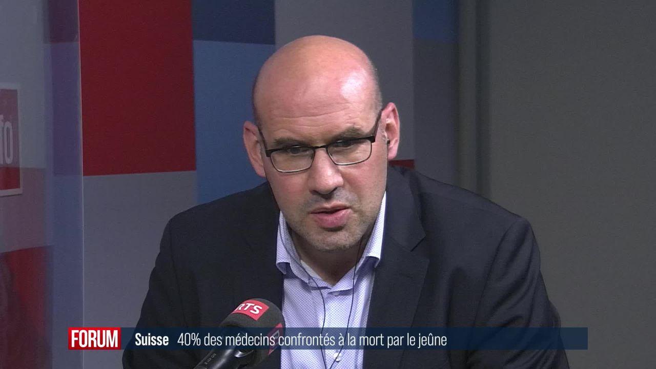 La mort par le jeûne en Suisse: interview de Ralf Jox [RTS]