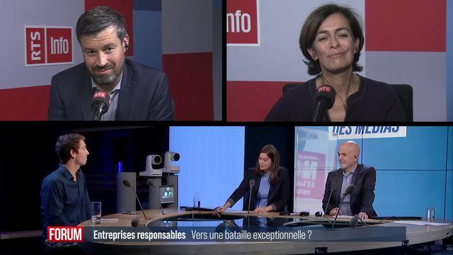 Forum des médias - Entreprises responsables: vers une bataille exceptionnelle? [RTS]