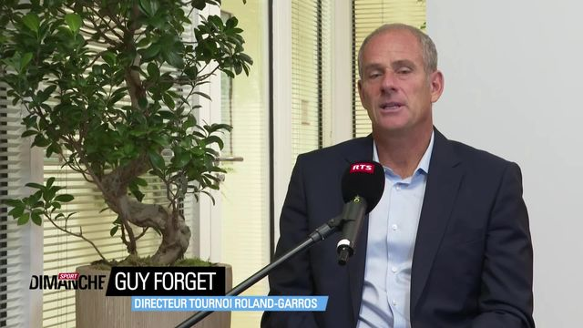 Tennis: Guy Forget à l'interview [RTS]