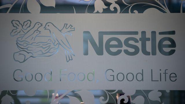 Le logo de Nestlé. [Laurent Gillieron - Keystone]