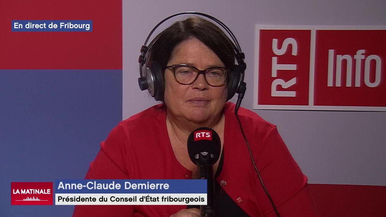 L'invitée de La Matinale (vidéo) - Anne-Claude Demierre, présidente du Conseil d'Etat fribourgeois [RTS]