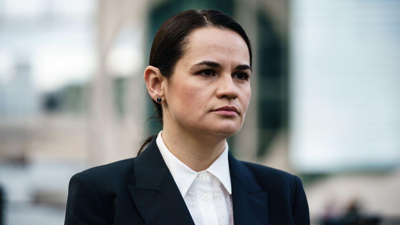 L'opposante biélorusse Svetlana Tikhanovskaïa lance un ultimatum au président Alexandre Loukachenko. [Clemens Bilan - Keystone/EPA]