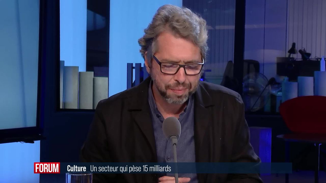 Le secteur de la culture pèse 15 milliards: interview d'Olivier Moeschler [RTS]