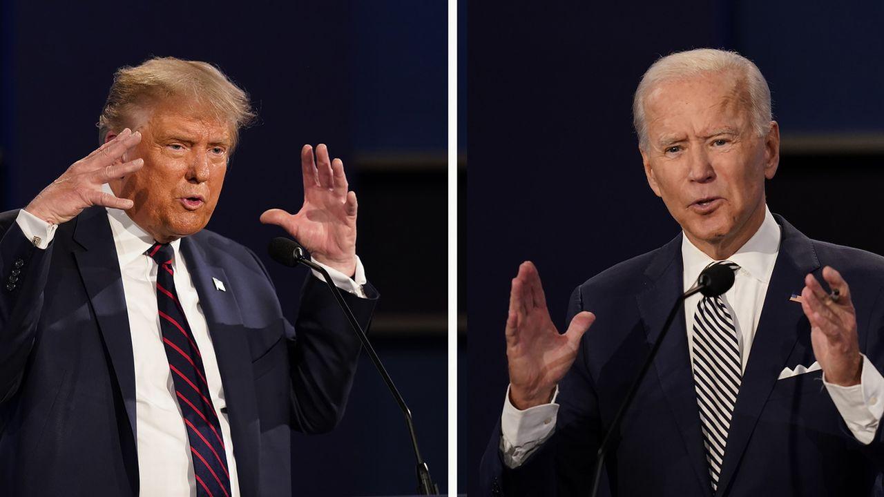 Pas de débat, mais un duel à distance entre Donald Trump et Joe Biden. L'un sur sur NBC, l'autre sur ABC. [Patrick Semansky - Keystone/AP photo]