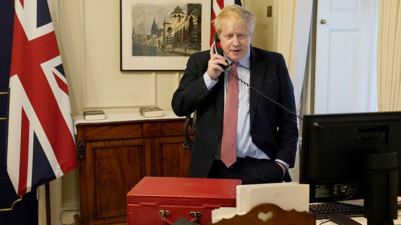 La présidente de la Commission européenne, Ursula von der Leyen, s'est entretenue au téléphone avec le Premier ministre britannique Boris Johnson (image d'illustration). [Andrew Parsons/No.10 Downing street - Keystone/epa]