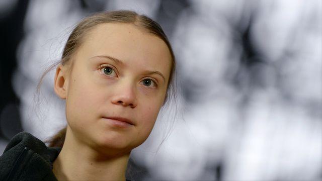 La jeune militante suédoise figure du mouvement pour le climat Greta Thunberg s'est vu décerné lundi le prix portugais Gulbenkian doté d'un million d'euros qu'elle va reverser à des associations de défense de l'environnement. [Johanna Geron - Reuters]