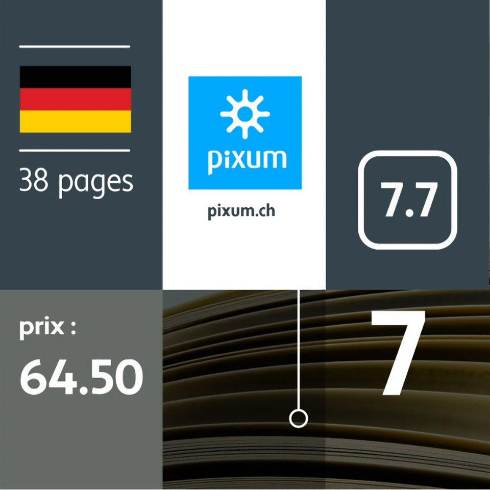 Test de qualité des livres photos. [RTS]