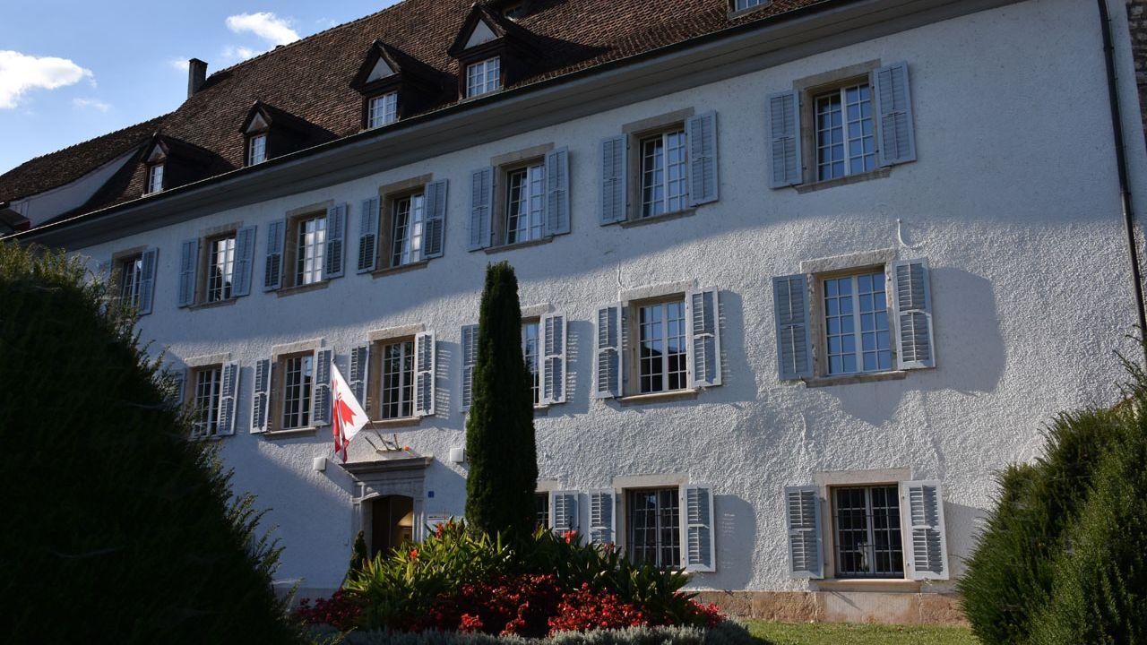 L'Hôtel du Parlement et du gouvernement jurassiens à Delémont. [Gaël Klein   - RTS]