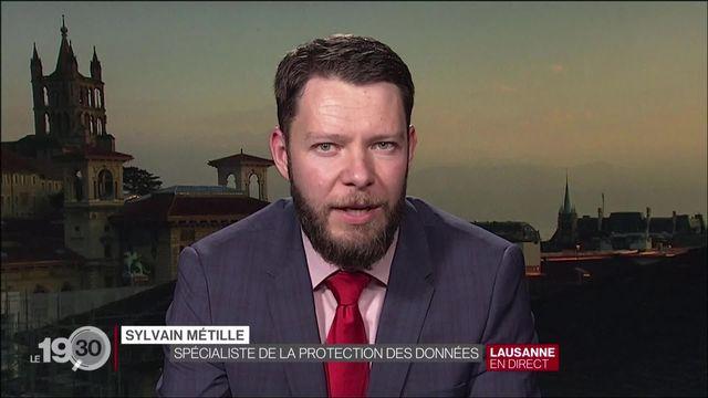 L'interview de Sylvain Métille, avocat spécialiste de la protection des données. [RTS]