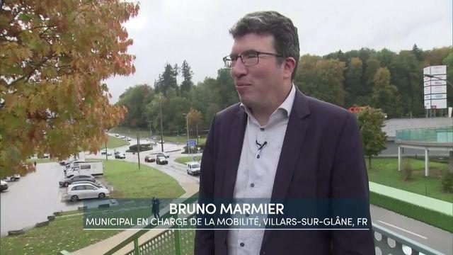 Entretien avec Bruno Marmier, municipal en charge de la mobilité, Villars-sur-Glâne, FR [RTS]