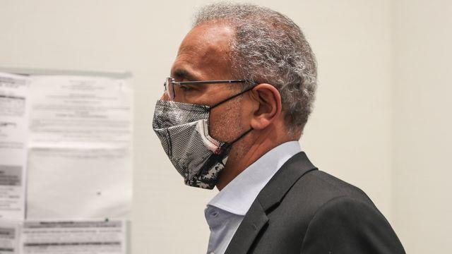 Tariq Ramadan, photographié ici le 9 septembre 2020 lors de son procès à Paris [Mohammed Badra - Keystone]