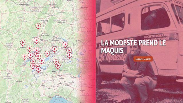 La Modeste prend le maquis : carte interactive [RTS]