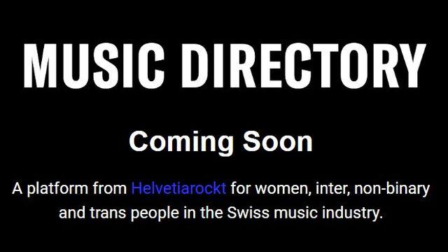 Capture d'écran du site musicdirectory.ch qui sera lancé le 20 octobre 2020. [musicdirectory.ch]