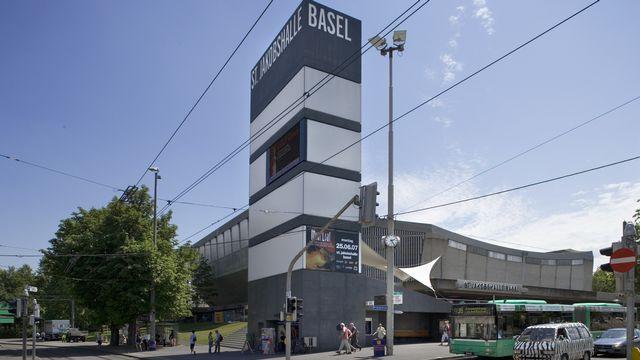 """Une vue de la Halle St-Jacques à Bâle, qu'une initiative voulais rebaptiser """"Roger Federer Arena"""". [Gaetan Bally - Keystone]"""